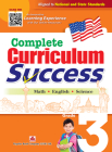 Complete Curriculum Success Grade 3 - Learning Workbook for Third Grade Students - English, Math and Science Activities Children Book Cover Image