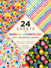 Rainbow Watercolors Gift Wrapping Paper - 24 Sheets: High-Quality 18 X 24 (45 X 61 CM) Wrapping Paper Cover Image