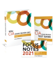 Wiley CIA Exam Review 2021 + Test Bank + Focus Notes: Part 1, Essentials of Internal Auditing Set Cover Image