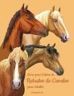 Livro para Colorir de Retratos de Cavalos para Adultos Cover Image