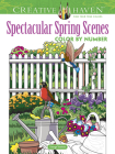 Creative Haven Spectacular Spring Scenes Color by Number (Creative Haven Coloring Books) Cover Image