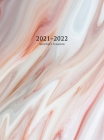 2021-2022 Monthly Planner: Large Two Year Planner with Marble Cover (Volume 1 Hardcover) Cover Image