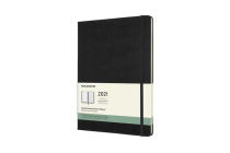 Moleskine 2021 Weekly Planner, 12M, Extra Large, Black, Hard Cover (7.5 x 9.75) Cover Image