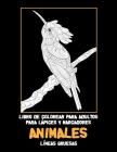 Libro de colorear para adultos para lápices y marcadores - Líneas gruesas - Animales Cover Image