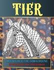 Malbücher für Erwachsene - Entspannung und Stressabbau - Tier Cover Image