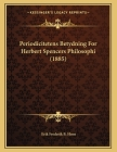 Periodicitetens Betydning For Herbert Spencers Philosophi (1885) Cover Image
