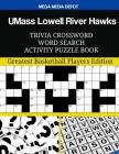 UMass Lowell River Hawks Trivia Crossword Word Search Activity Puzzle Book Cover Image