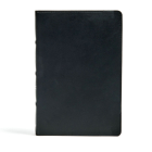 CSB Large Print Ultrathin Reference Bible, Black Premium Leather, Black Letter Edition Cover Image