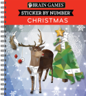 Brain Games - Sticker by Number: Christmas (Geometric Stickers) Cover Image