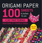 Origami Paper 100 Sheets Cat Patterns 6