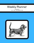 Weekly Planner: Basset Hound; 18 months; July 1, 2019 - December 31, 2020; 8
