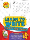 Learn to Write Practice Book: Home school, pre-k and kindergarten handwriting practice paper, blank writing pages with letter formation and dotted l Cover Image