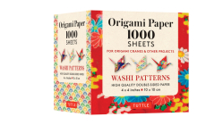 Origami Paper Japanese Washi 1,000 Sheets 4 (10 CM): Tuttle Origami Paper: High-Quality Double-Sided Origami Sheets Printed with 12 Different Designs Cover Image