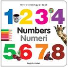 My First Bilingual Book–Numbers (English–Italian) Cover Image