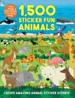 1,500 Sticker Fun Animals Cover Image