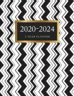 5 Year Planner 2020-2024: Black and White Zig Zag Cover - 5 Year Monthly Appointment Calendar with Holiday - 2020-2024 Five Year Schedule Organi Cover Image