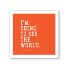I'm Going to See the World Sticker (Spumoni) Cover Image
