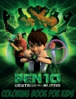 Ben 10 Coloring Book For kids: 120 Coloring Pages For kids Ages 4-8 Cover Image
