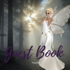 Premium Guest Book - White Fairy Themed for any occasions - 80 Premium color pages- 8.5 x8.5 Inches Cover Image