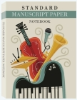 Standard Manuscript Paper Notebook: Music Manuscript Paper, White Marble Blank Sheet Music, Musicians Notebook, Staff Paper Notebook Cover Image