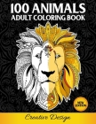 100 Animals - Adult Coloring Book Cover Image