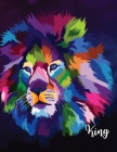 King: College Ruled Paper with a BW lion girl illustrations on each page- 8.5 x 11- 150 Pages, Perfect for School, Office an Cover Image