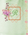 R: R: 2020 Dated (Jan-Dec) Vintage Initial Monogram Flower Letter R Planner Day To Day weekly Monthly Agenda Schedule Org Cover Image