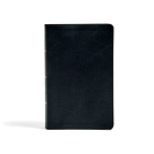 CSB Single-Column Personal Size Bible, Black LeatherTouch Cover Image