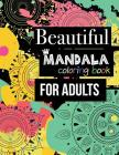 Flower Mandala Coloring Books for Adults: Beautiful Funny Stress Relieving Flowers Black Background 39 Design Inside Page Cover Image