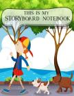 Storyboard Notebook: 1:1.85 - 4 Panels with Narration Lines for Storyboard Sketchbook ideal for filmmakers, advertisers, animators, noteboo Cover Image