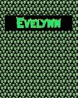 120 Page Handwriting Practice Book with Green Alien Cover Evelynn: Primary Grades Handwriting Book Cover Image