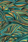 Password Book: Include Alphabetical Index With Seamless Abstract Hand Drawn Waves Pattern Cover Image