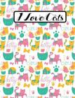 I Love Cats - Cute Kitty Composition Notebook - College Ruled - 55 sheets, 110 pages - 7.44 x 9.69 inches Cover Image