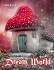 Dream World Grayscale Coloring Book Cover Image
