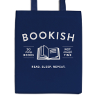 Bookish Canvas Tote Bag Cover Image