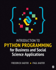 Introduction to Python Programming for Business and Social Science Applications Cover Image