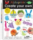 Alphaprints: Create Your Own: A sticker and doodle activity book Cover Image