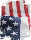 My NOTEBOOK: Block-Notes Dot Grid American Patriot Collection - USA FLAG - - Notebook Diary Large size (8.5 x 11 inches) Cover Image