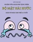 Sách tô màu cho trẻ 4-5 tuổi (Bộ mặt hài hước): Cuốn sách này có 40 trang tô màu không gây căng thẳ Cover Image