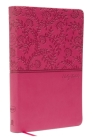 NKJV, Value Thinline Bible, Standard Print, Imitation Leather, Pink, Red Letter Edition Cover Image