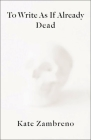 To Write as If Already Dead Cover Image