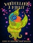Wonderland à Minuit: Livre De Coloriage Pour Adultes: Un livre de coloriage fantaisiste sur un fond noir Cover Image