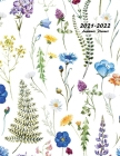 2021-2022 Academic Planner: Large Weekly and Monthly Planner with Inspirational Quotes and Floral Cover Volume 2 (July 2021 - June 2022) Cover Image