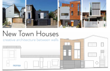 New Town Houses: Creative Architecture Between Walls Cover Image