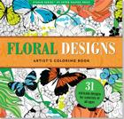 Floral Designs Artist's Coloring Book Cover Image