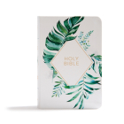 KJV On-the-Go Bible, White Floral Textured LeatherTouch: Red Letter, Easy-to-Carry, Smythe Sewn, Teen Bible, Double Column, Presentation Page, Ribbon Marker, Student's Bible, Great Value Cover Image
