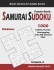 Samurai Sudoku Puzzle Book: 1000 Medium Sudoku Puzzles Overlapping into 200 Samurai Style Cover Image