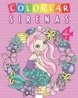 Colorear sirenas - 2 libros en 1: Libro para colorear para niños - 50 dibujos Cover Image