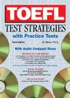 TOEFL Test Strategies with Practice Tests with Audio CDs Cover Image