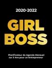 2020-2022 GIRL BOSS Planificateur de Agenda Mensuel sur 3 Ans pour un Entrepreneur: Agenda Mensuel pour les Femmes - Agenda pour 3 Ans, Agenda Mensuel Cover Image
